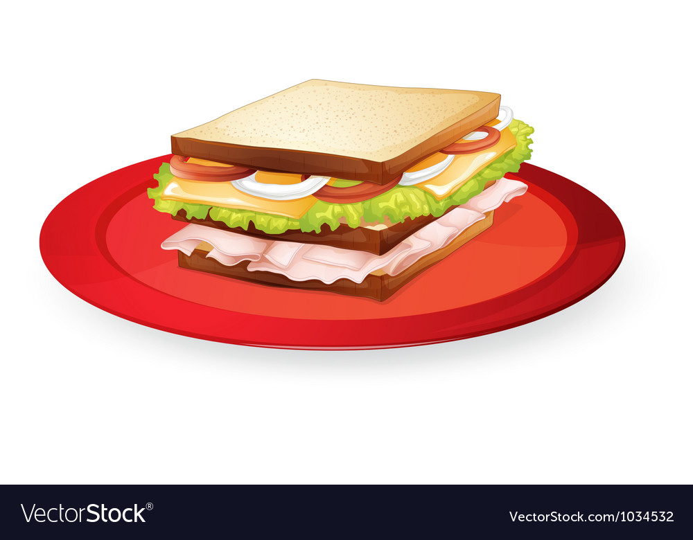 Bread sandwich vector | Price: 1 Credit (USD $1)