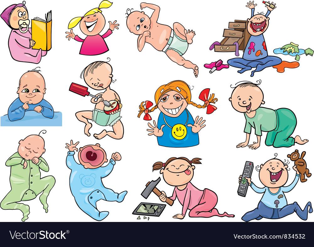 Cartoon babies and children vector | Price: 3 Credit (USD $3)