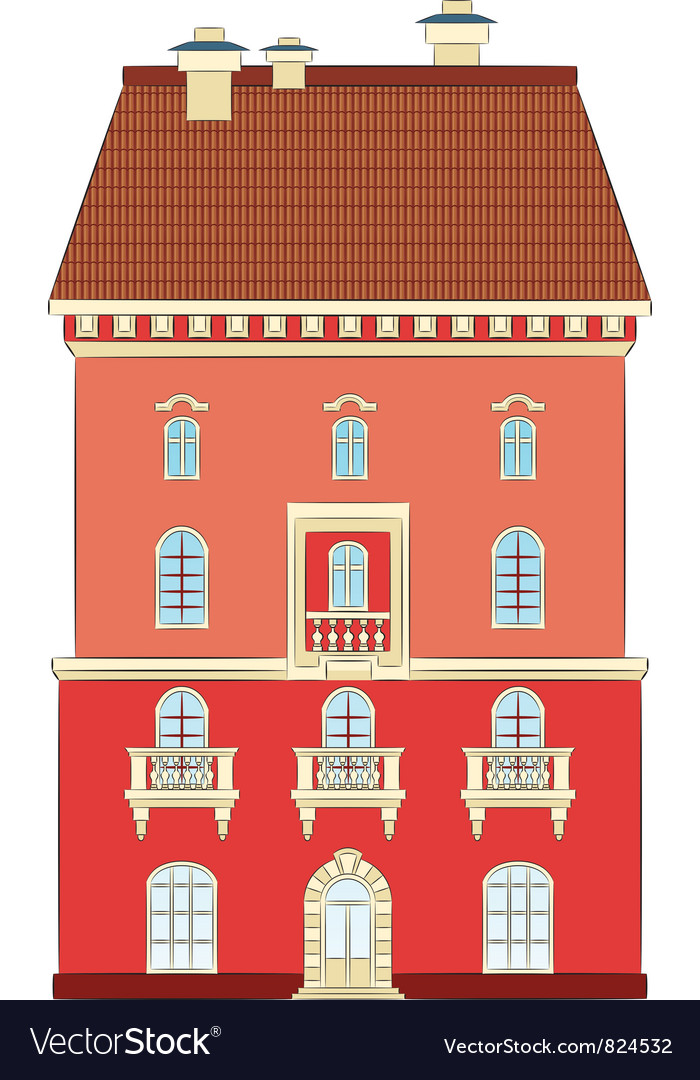 City house vector | Price: 1 Credit (USD $1)