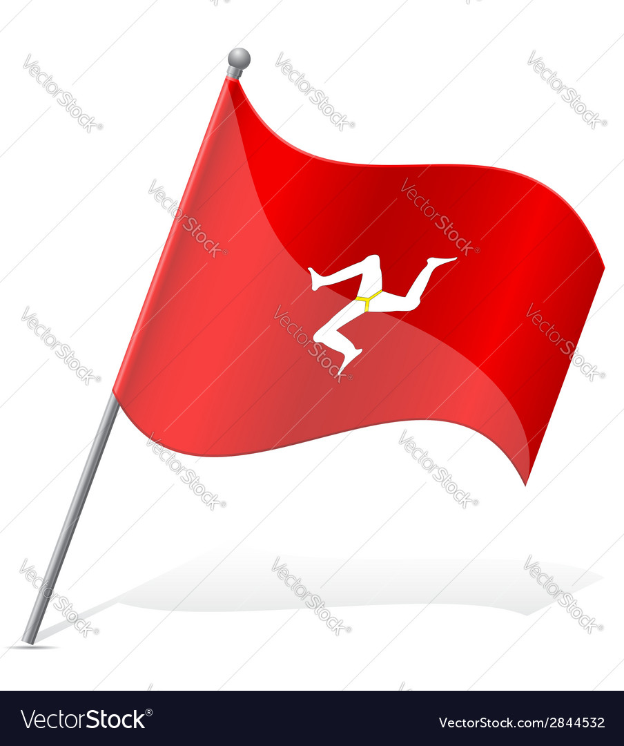 Flag isle of man vector | Price: 1 Credit (USD $1)