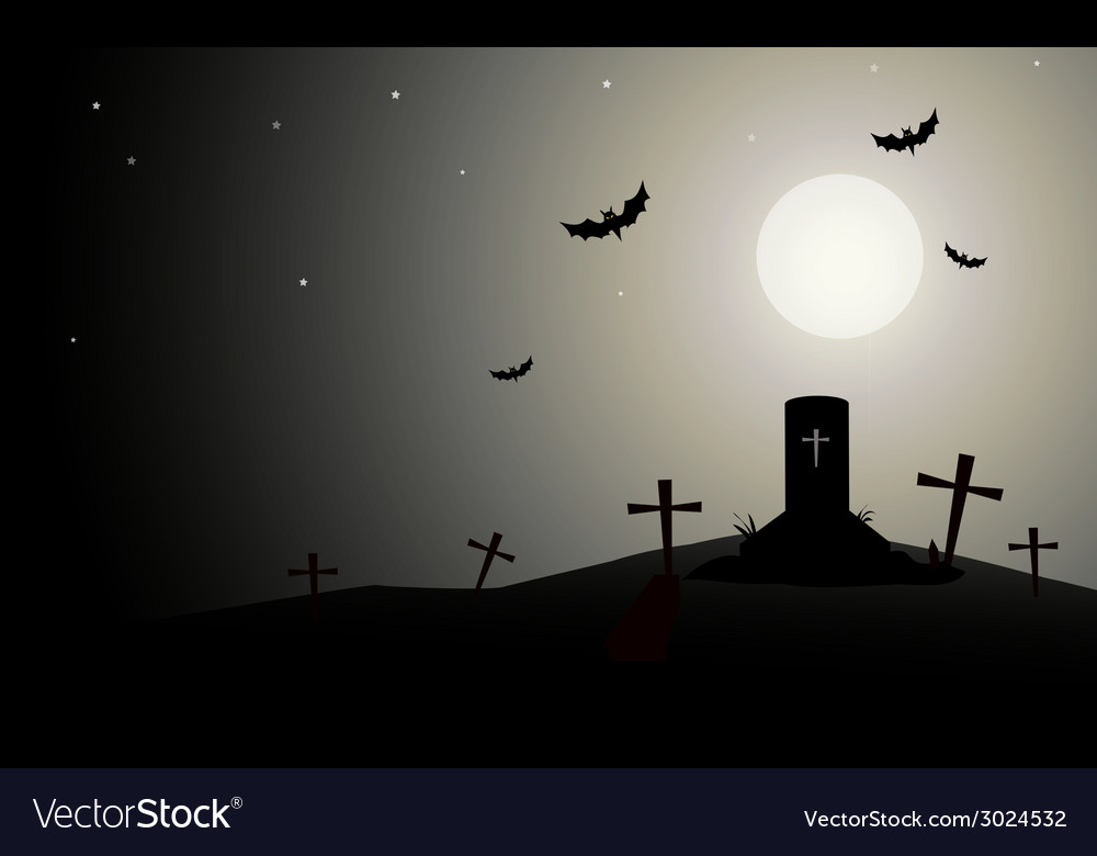 Horror halloween background- vector | Price: 1 Credit (USD $1)
