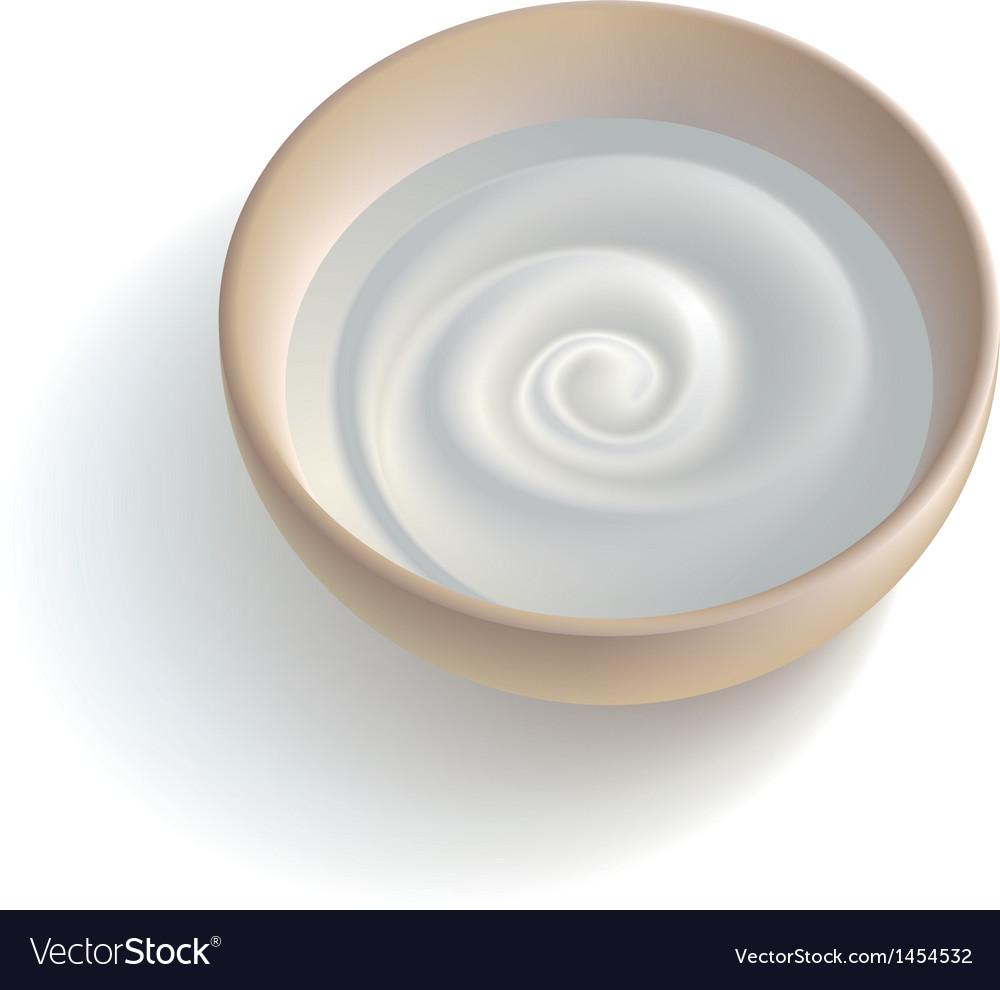 Milky cream vector | Price: 1 Credit (USD $1)