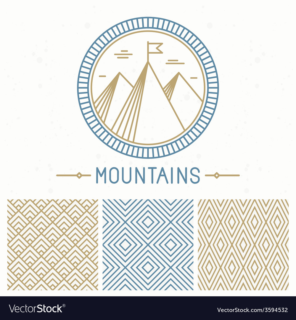 Mountain design kit vector | Price: 1 Credit (USD $1)