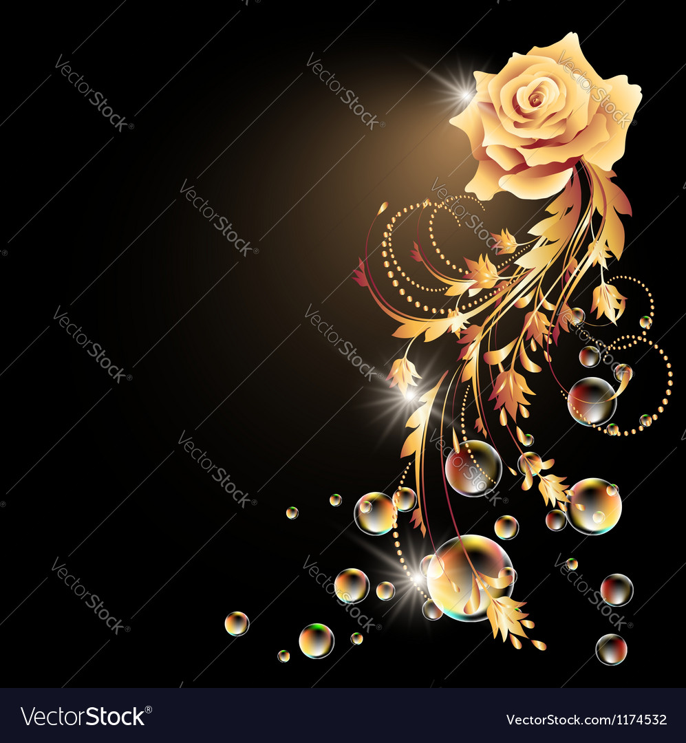Rose star and bubbles vector | Price: 1 Credit (USD $1)