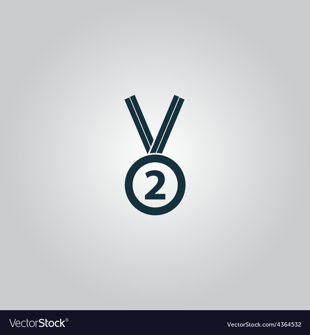 Second place award silver medal vector | Price: 1 Credit (USD $1)