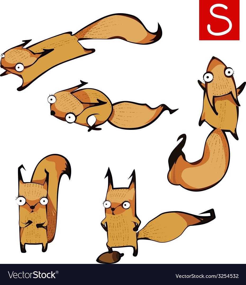 Squirrels vector | Price: 1 Credit (USD $1)