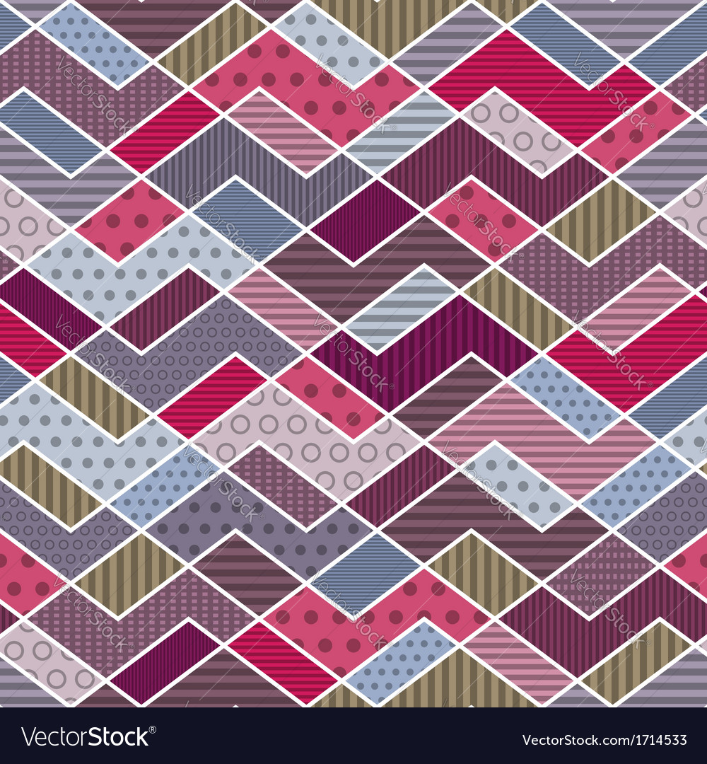 Abstract geometric patchwork pattern vector | Price: 1 Credit (USD $1)