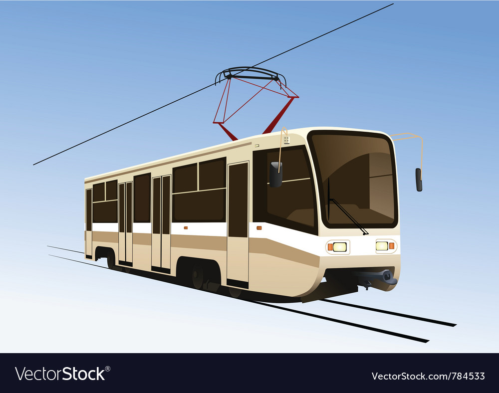 City tram vector | Price: 1 Credit (USD $1)