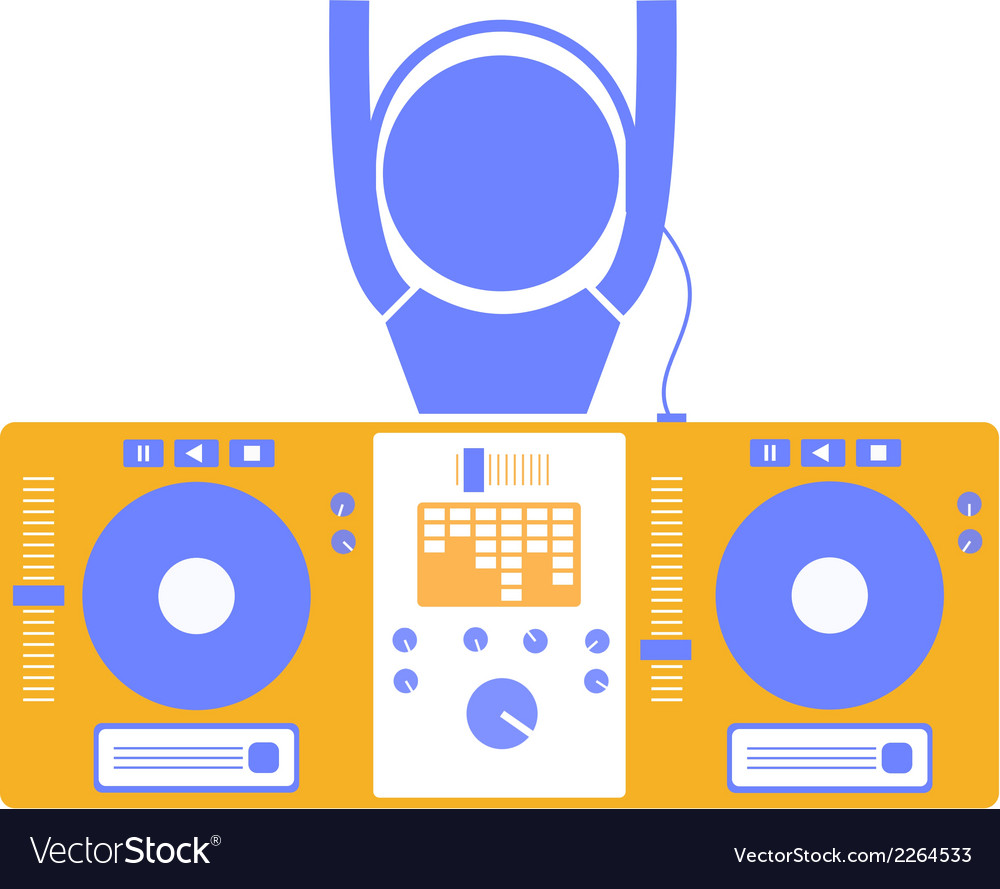 Dj and board vector | Price: 1 Credit (USD $1)