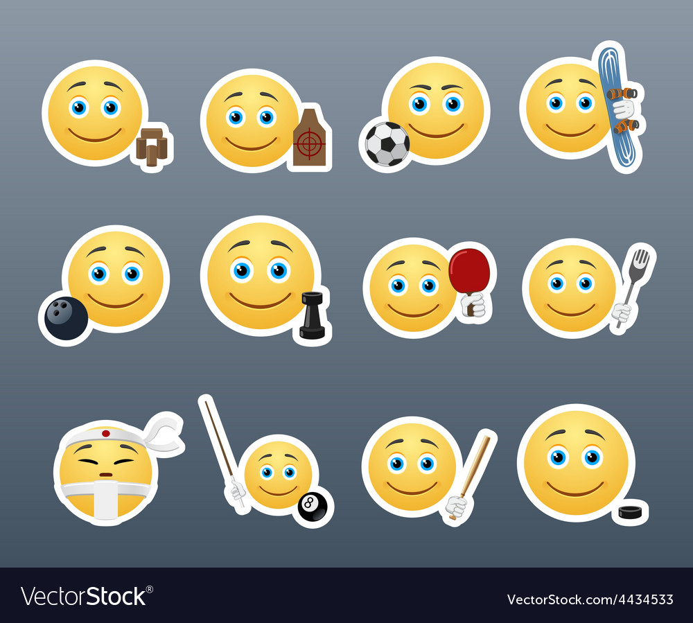 Emoticons and sports vector | Price: 1 Credit (USD $1)