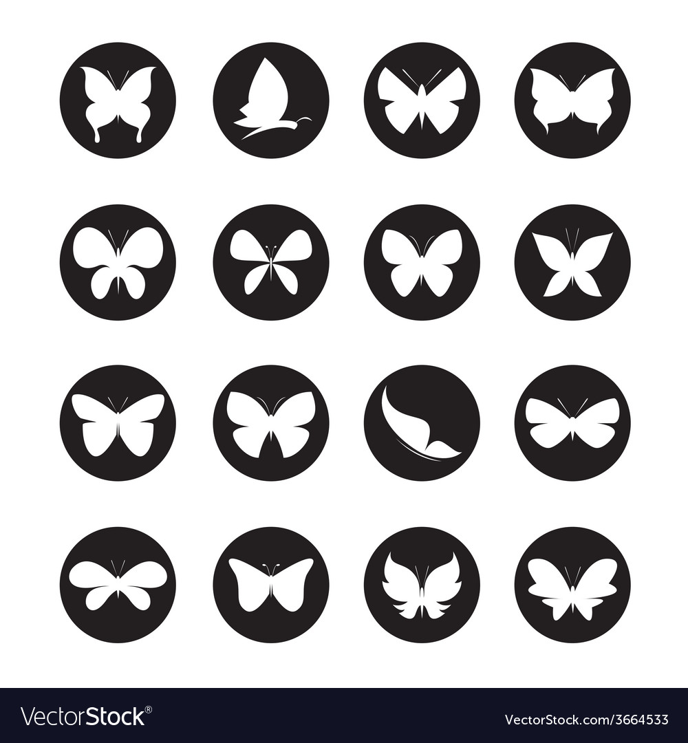 Group of butterflies in the circle vector | Price: 1 Credit (USD $1)
