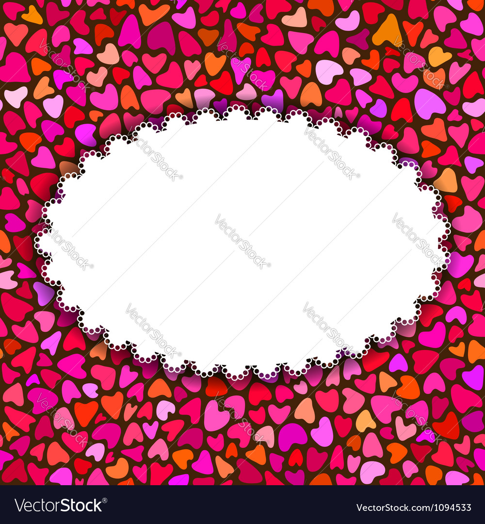 Hand drawn hearts romantic background or greeting vector | Price: 1 Credit (USD $1)