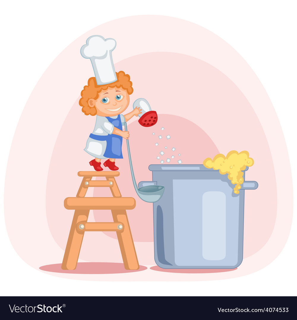 Little cook vector | Price: 1 Credit (USD $1)