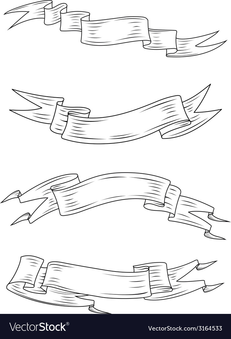 Medieval ribbons and banners vector   Price: 1 Credit (USD $1)