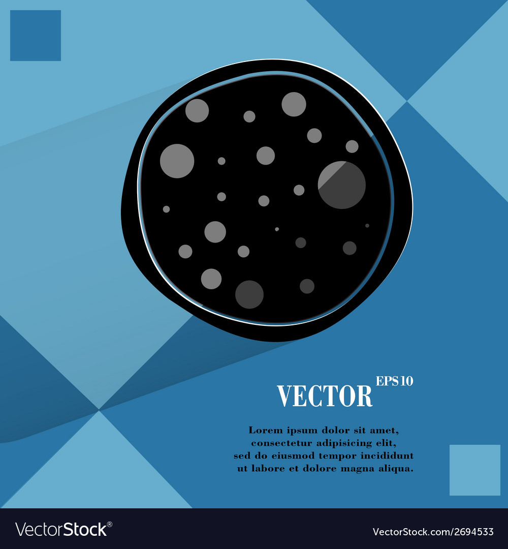 Pizza flat modern web button on a flat geometric vector   Price: 1 Credit (USD $1)