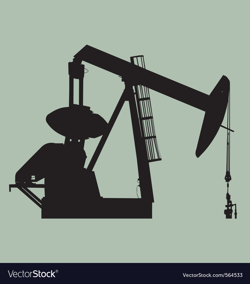 Pump jack sihouette vector | Price: 1 Credit (USD $1)