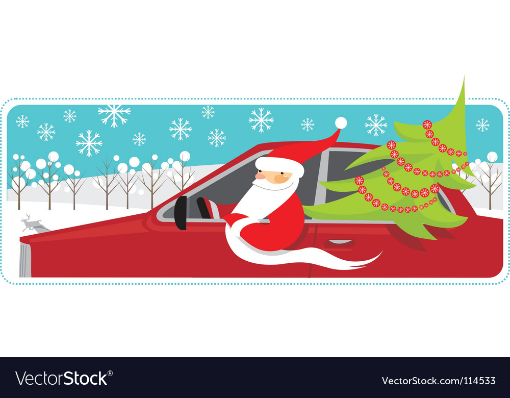 Santa mobile vector | Price: 1 Credit (USD $1)
