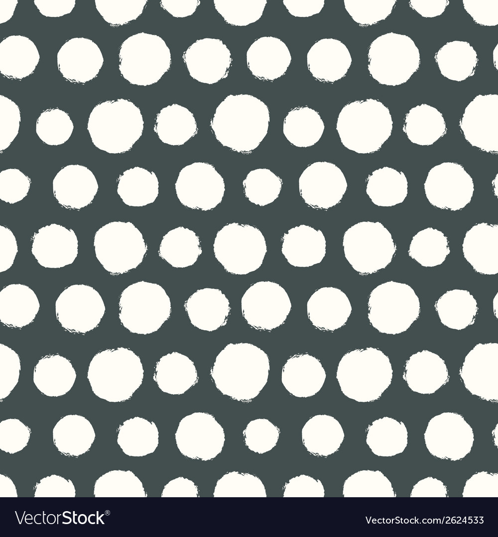 Seamless pattern with painted polka dot texture vector | Price: 1 Credit (USD $1)
