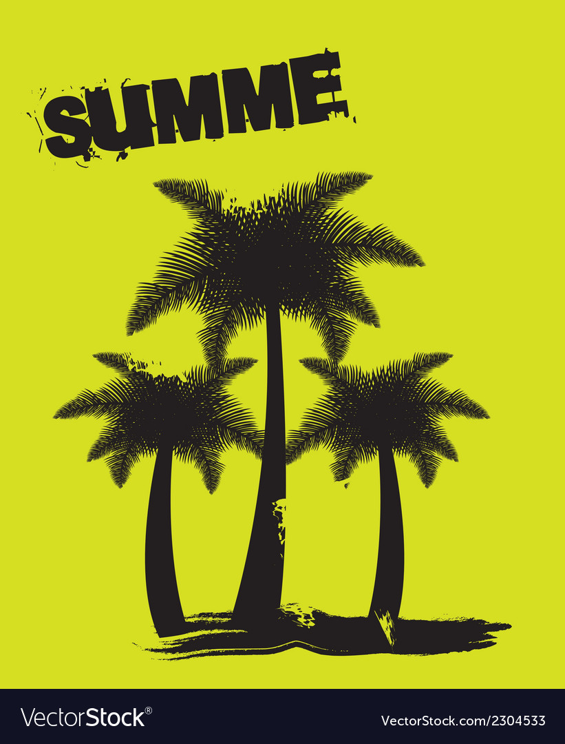 Silhouette of palm trees vector | Price: 1 Credit (USD $1)