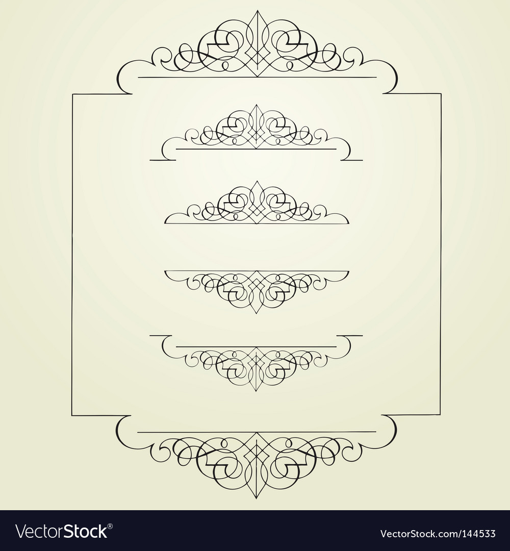 Swirl borders vector | Price: 1 Credit (USD $1)