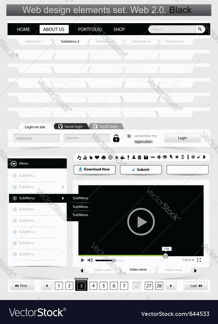 Web design template vector | Price: 1 Credit (USD $1)