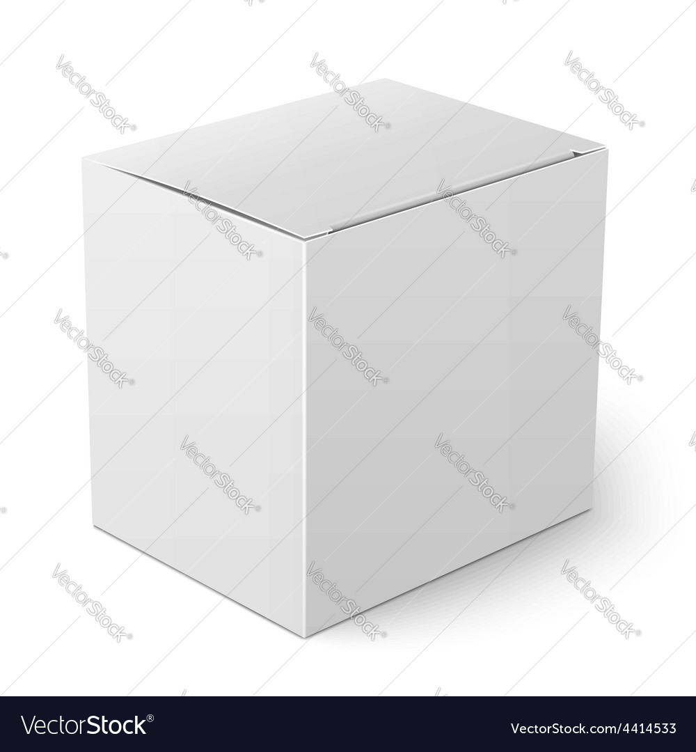 White paper box template vector | Price: 1 Credit (USD $1)