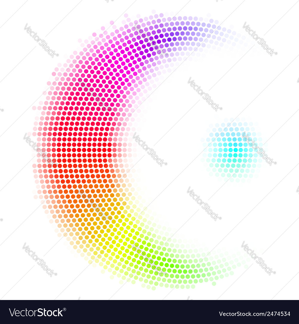 Dots digital form vector | Price: 1 Credit (USD $1)