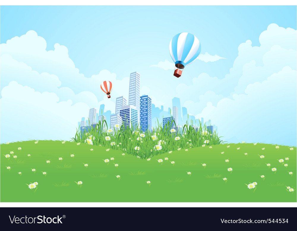 Edge of the city vector | Price: 3 Credit (USD $3)