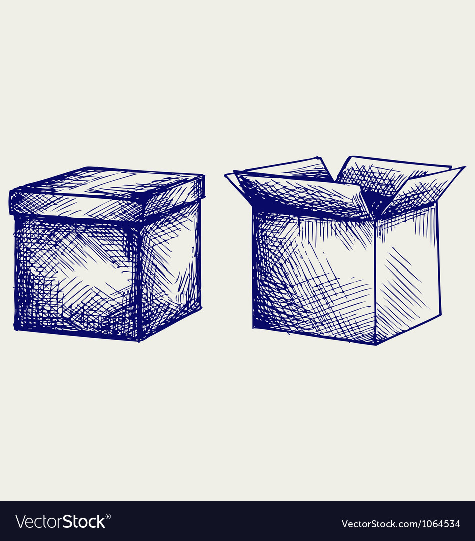 Empty cardboard box vector | Price: 1 Credit (USD $1)
