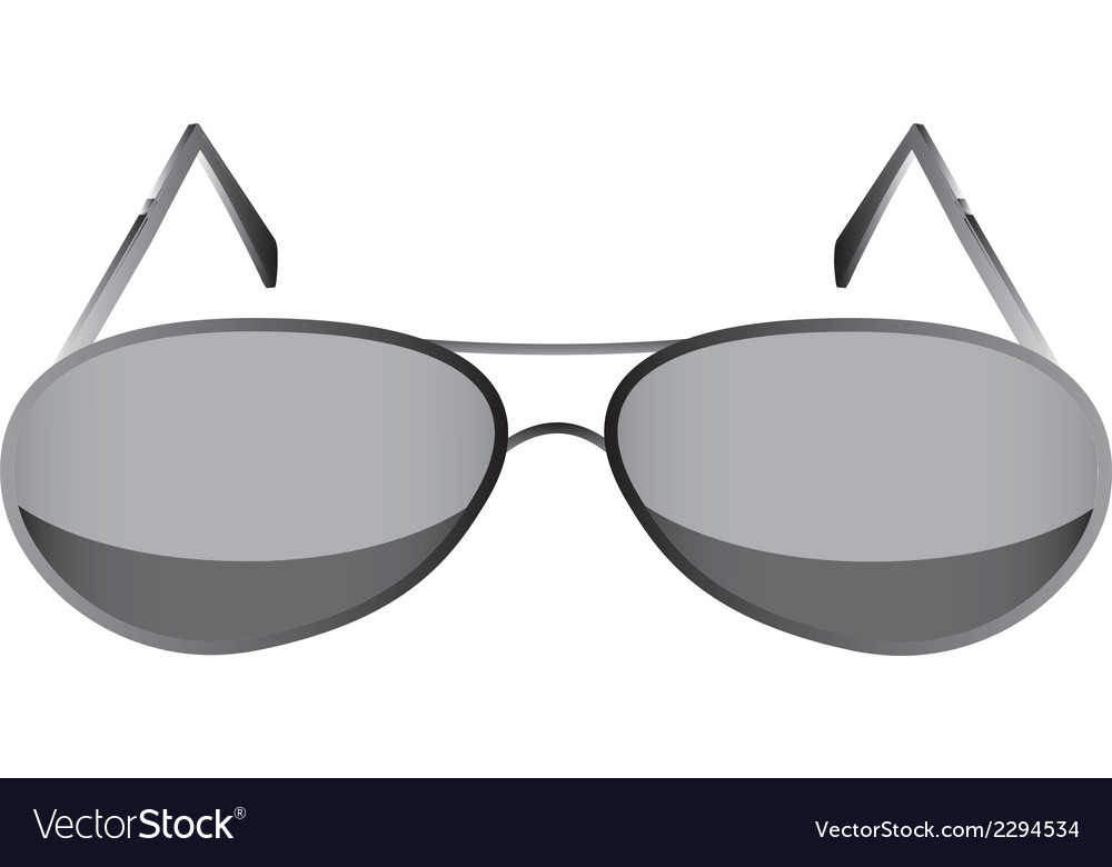 Glasses black 1 v vector | Price: 1 Credit (USD $1)