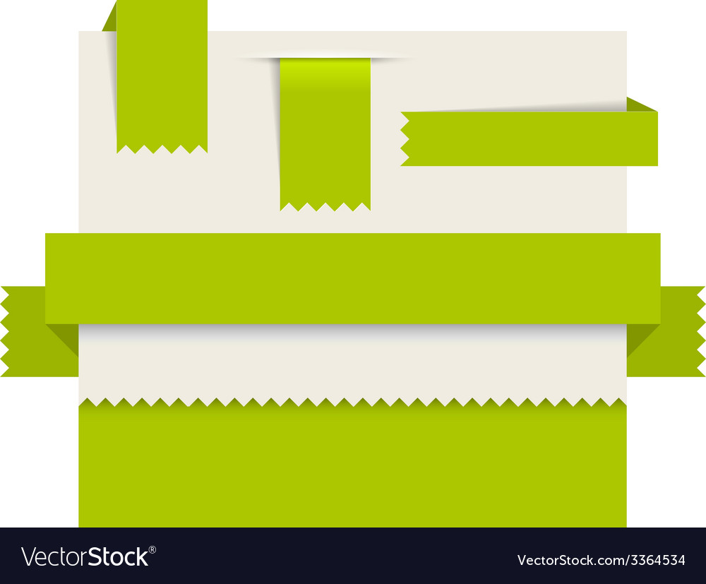 Green paper tags - ribbons vector   Price: 1 Credit (USD $1)