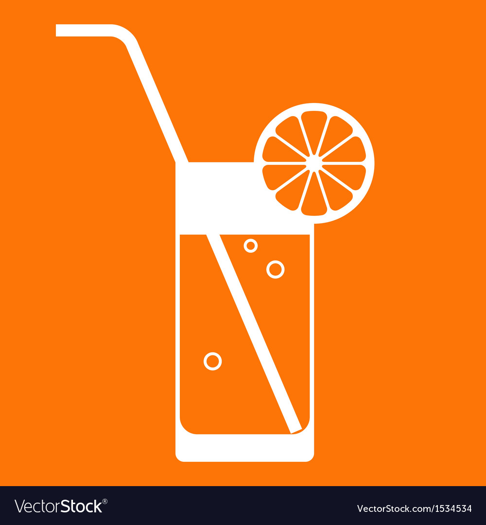 Orange juice glass vector | Price: 1 Credit (USD $1)