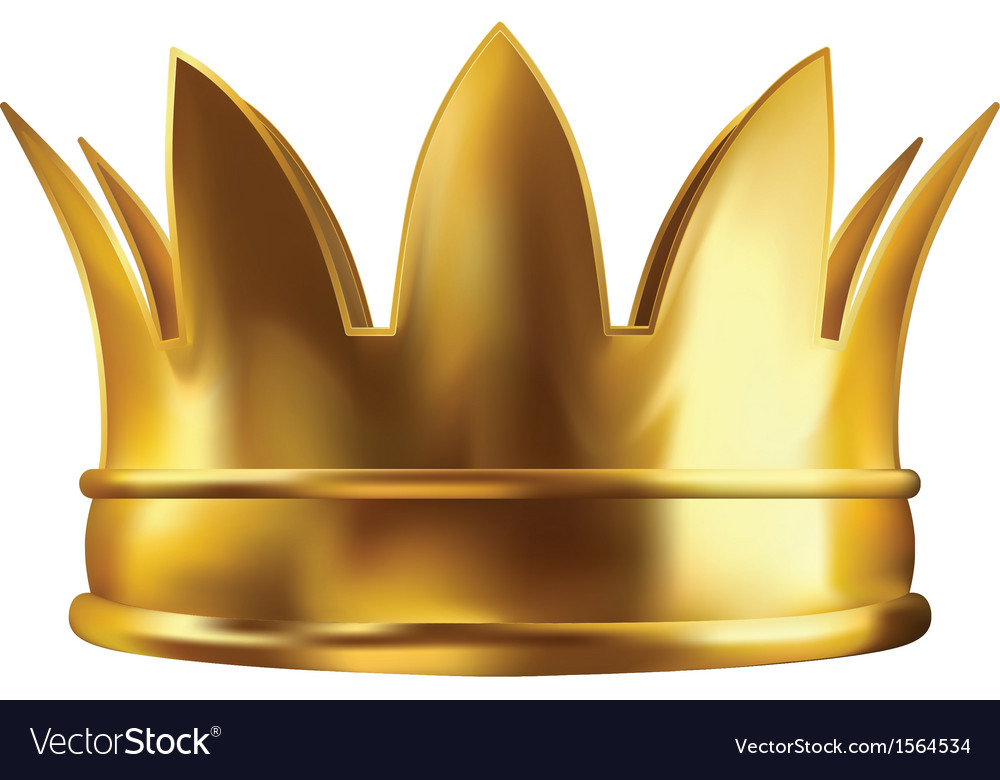 Royal golden crown vector | Price: 1 Credit (USD $1)