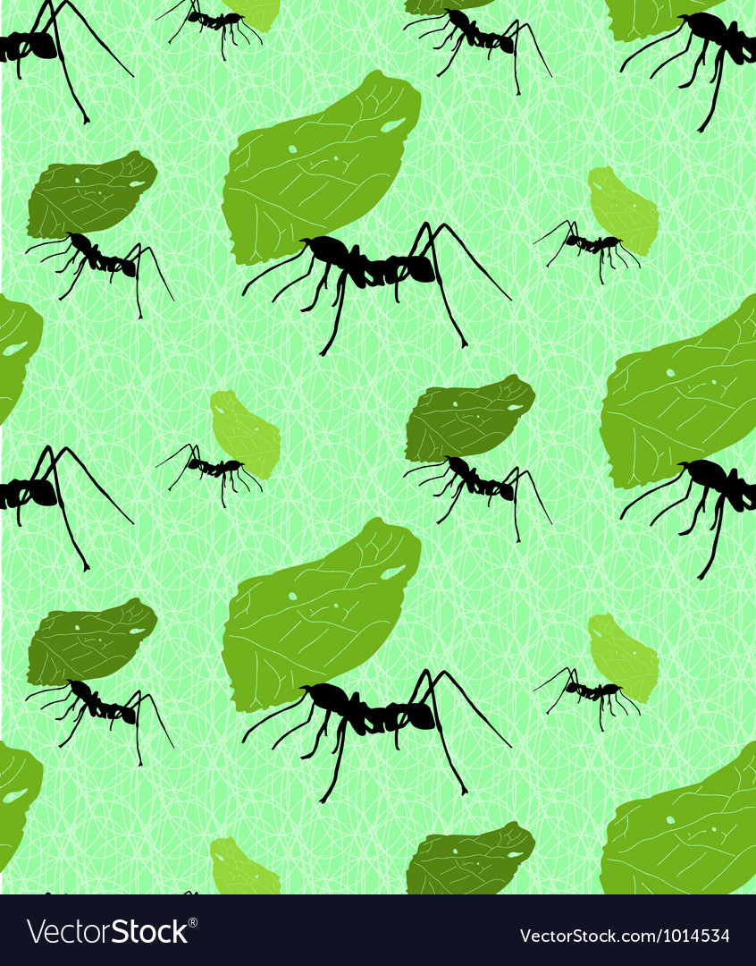 Seamless background with leaf cutter ants vector | Price: 1 Credit (USD $1)