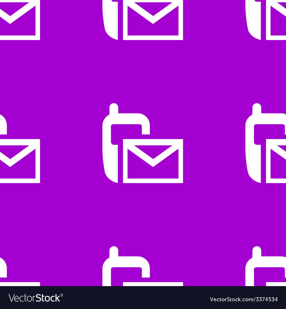 Sms web icon flat design seamless pattern vector | Price: 1 Credit (USD $1)
