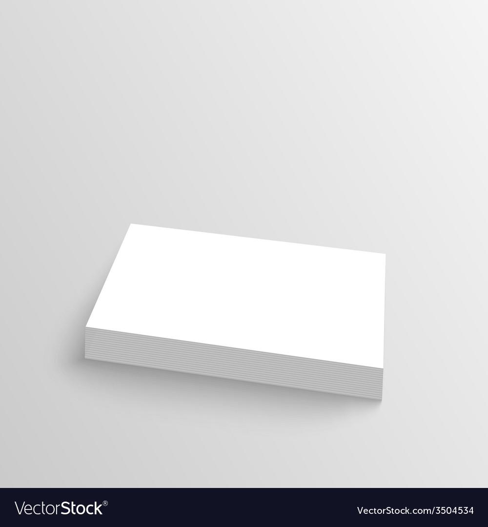 Stack of clean business cards vector | Price: 1 Credit (USD $1)