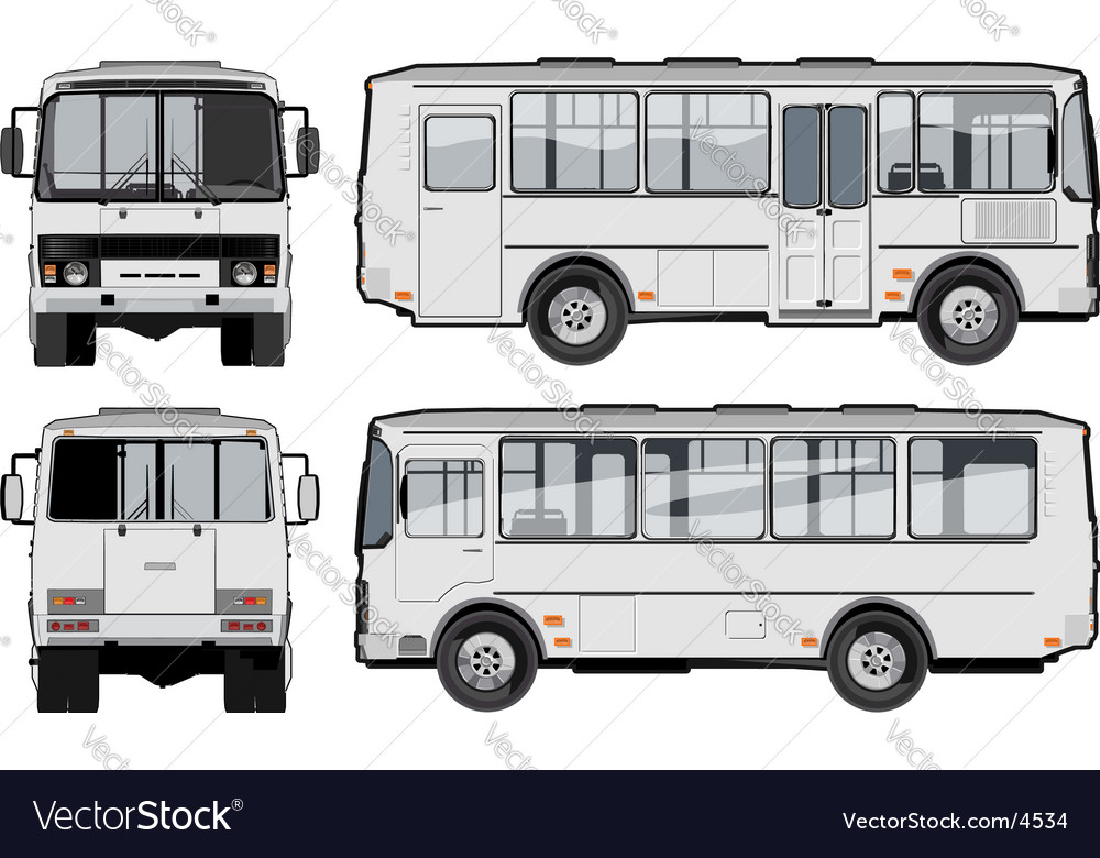Urban suburban passenger mini-bus vector | Price: 3 Credit (USD $3)