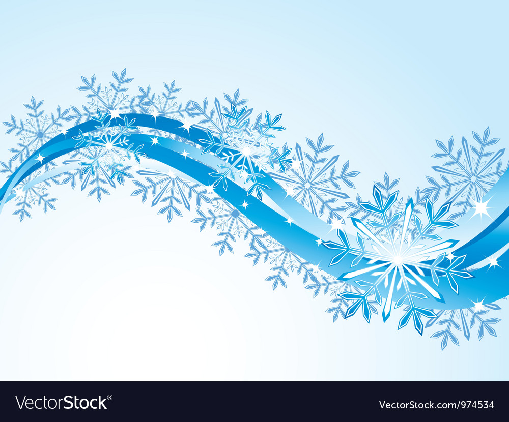 Winter flowing background vector | Price: 1 Credit (USD $1)