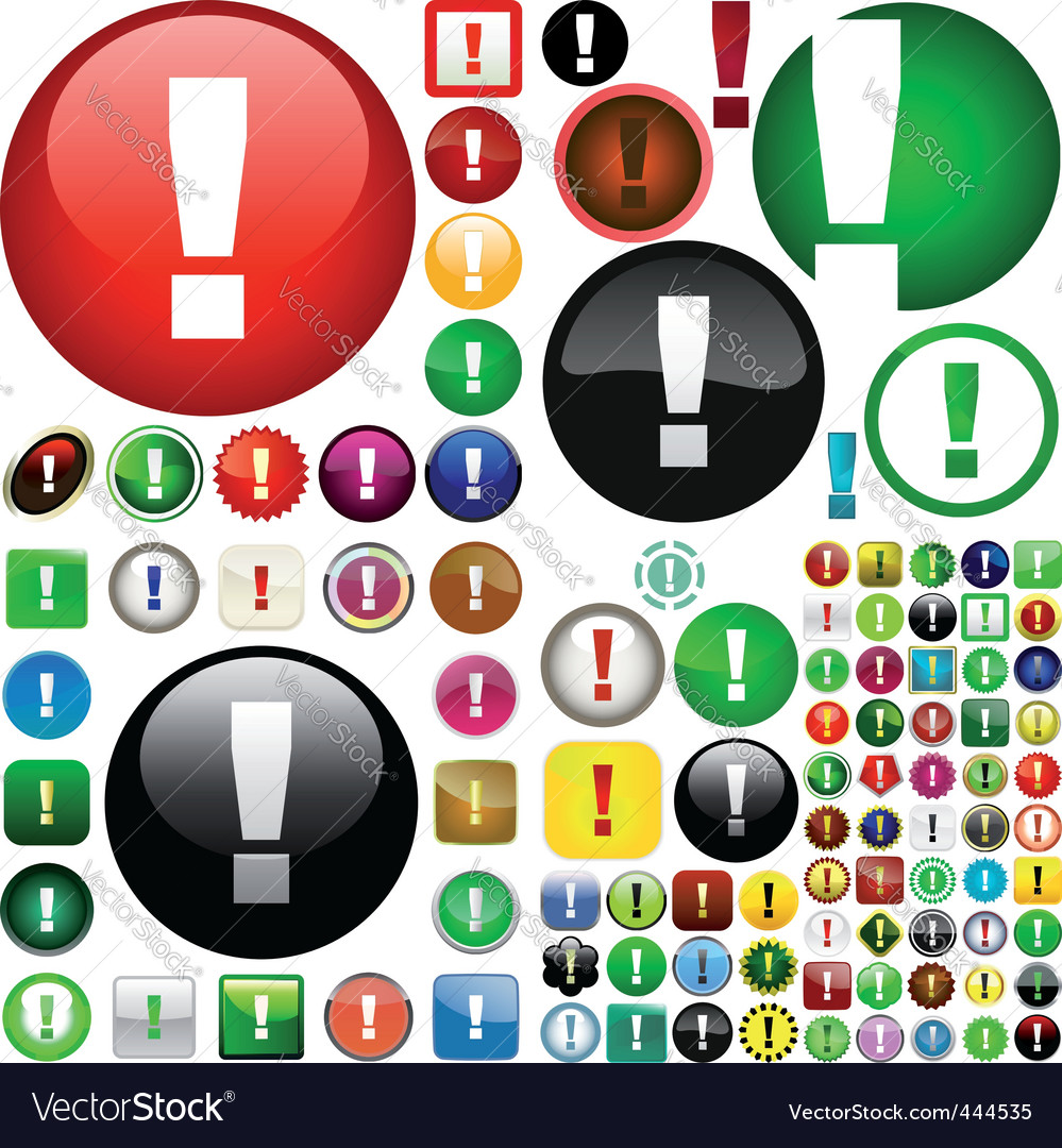 Attention buttons vector | Price: 1 Credit (USD $1)