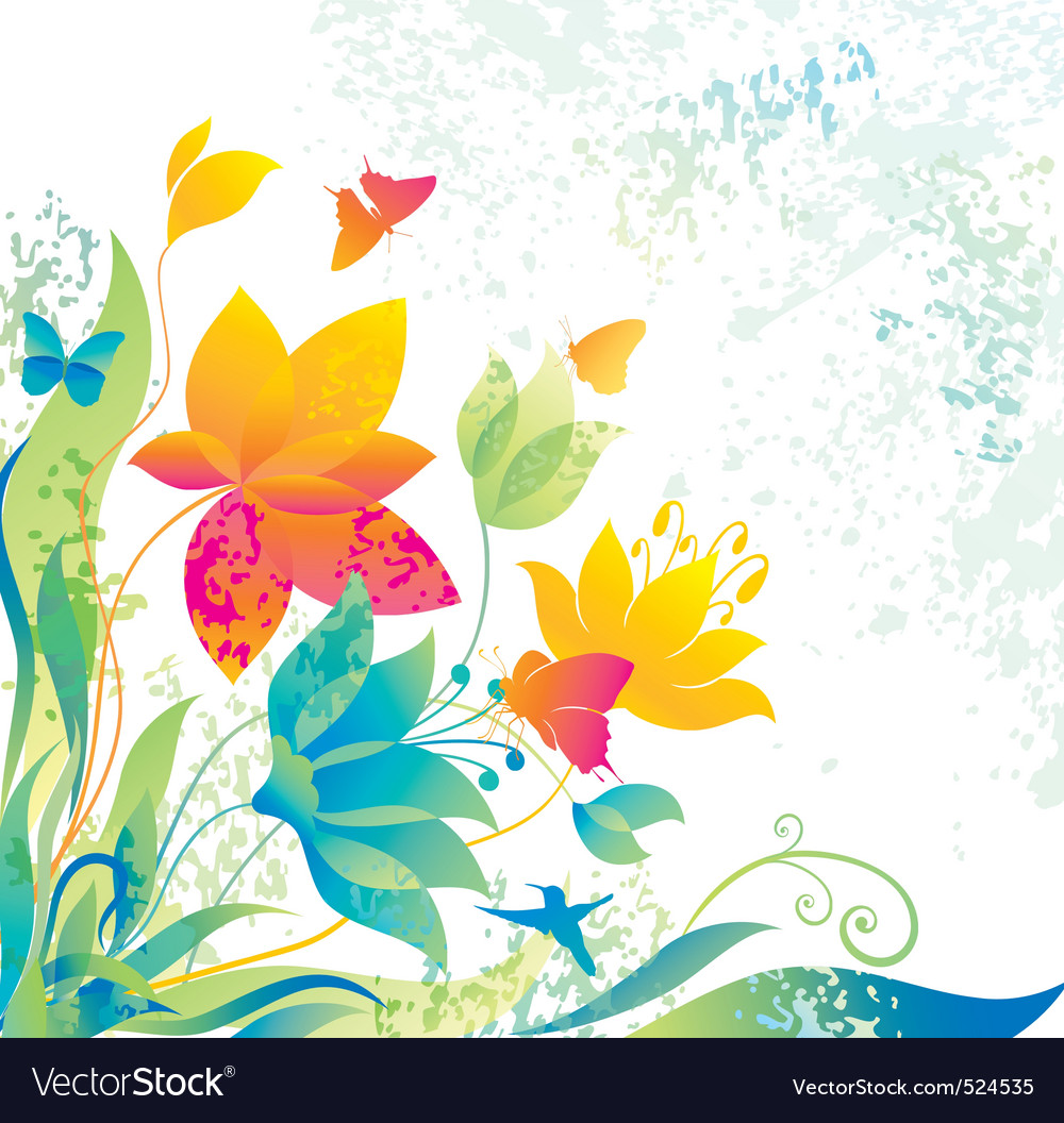 Beautiful flower background vector | Price: 1 Credit (USD $1)