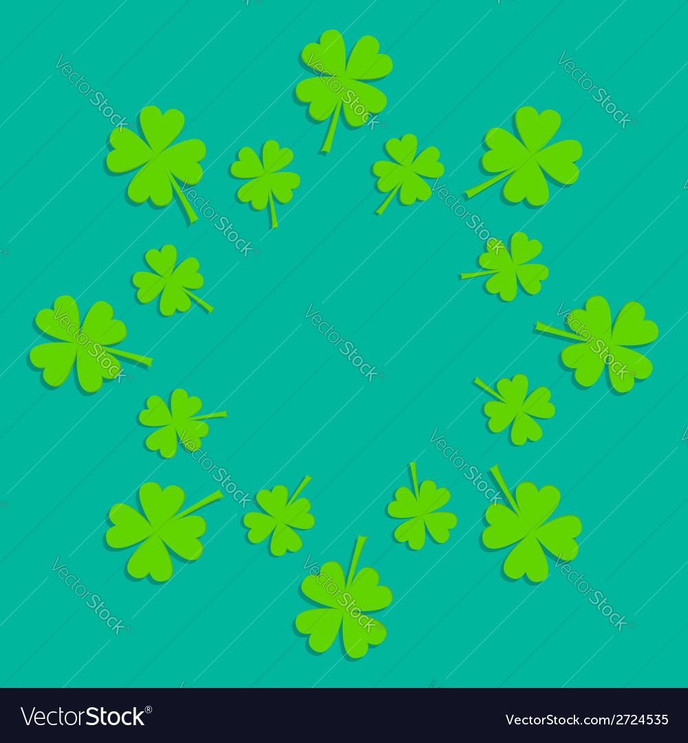 Four leaf clover abstract frame flat design vector | Price: 1 Credit (USD $1)
