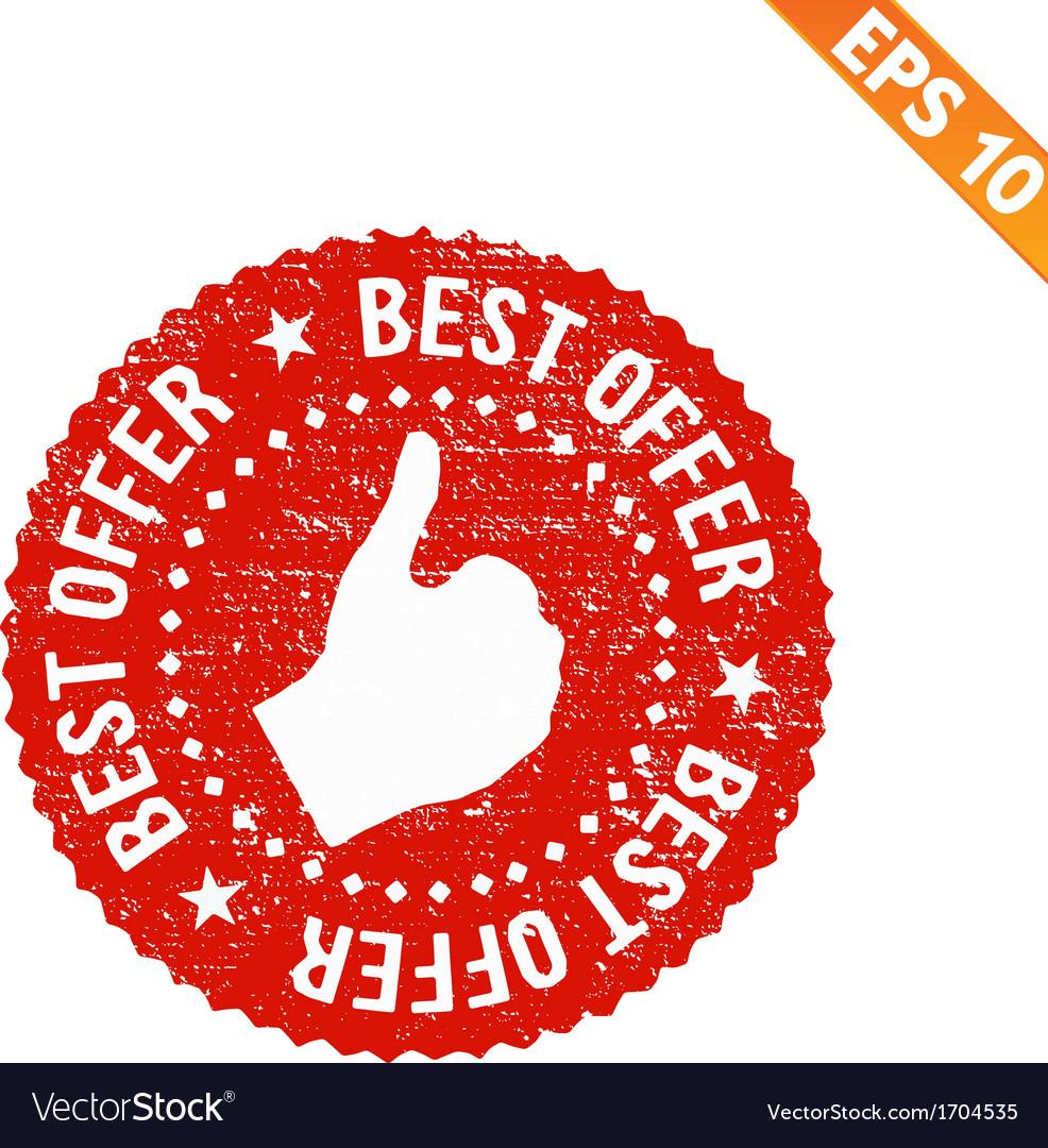 Grunge best offer rubber stamp - - eps10 vector   Price: 1 Credit (USD $1)