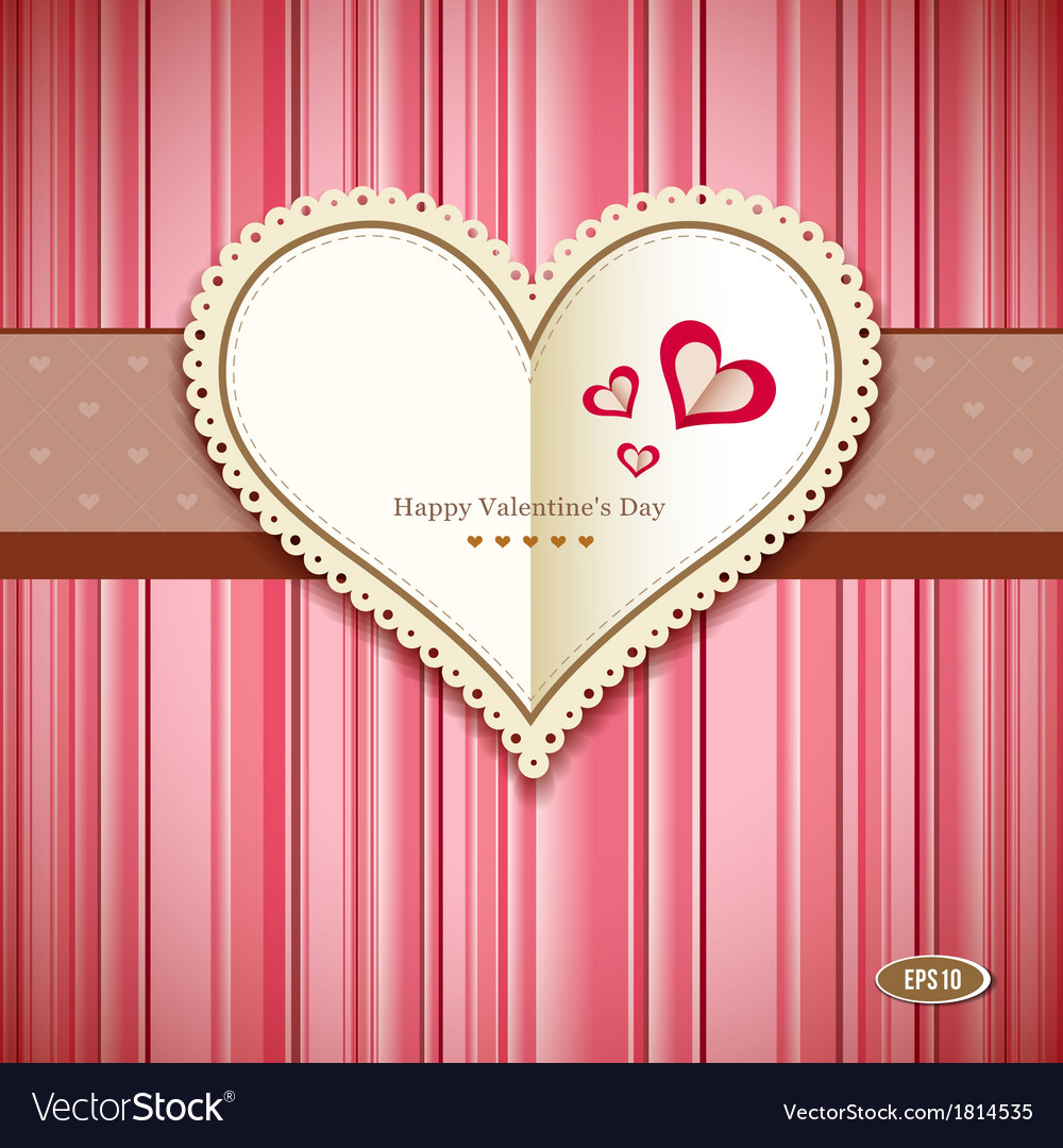 Happy valentine day greeting card design vector | Price: 1 Credit (USD $1)