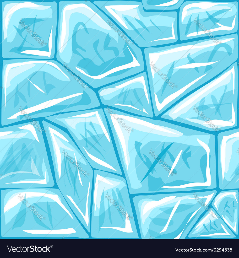 Ice seamless pattern vector | Price: 1 Credit (USD $1)