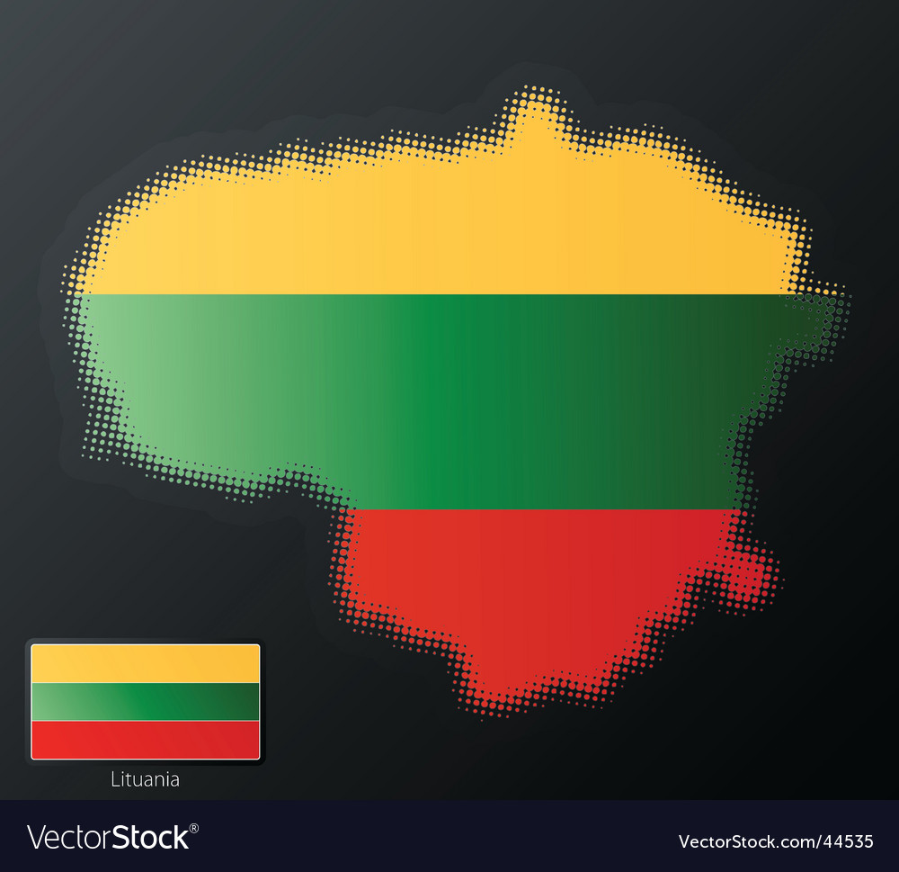 Lithuania map vector | Price: 1 Credit (USD $1)