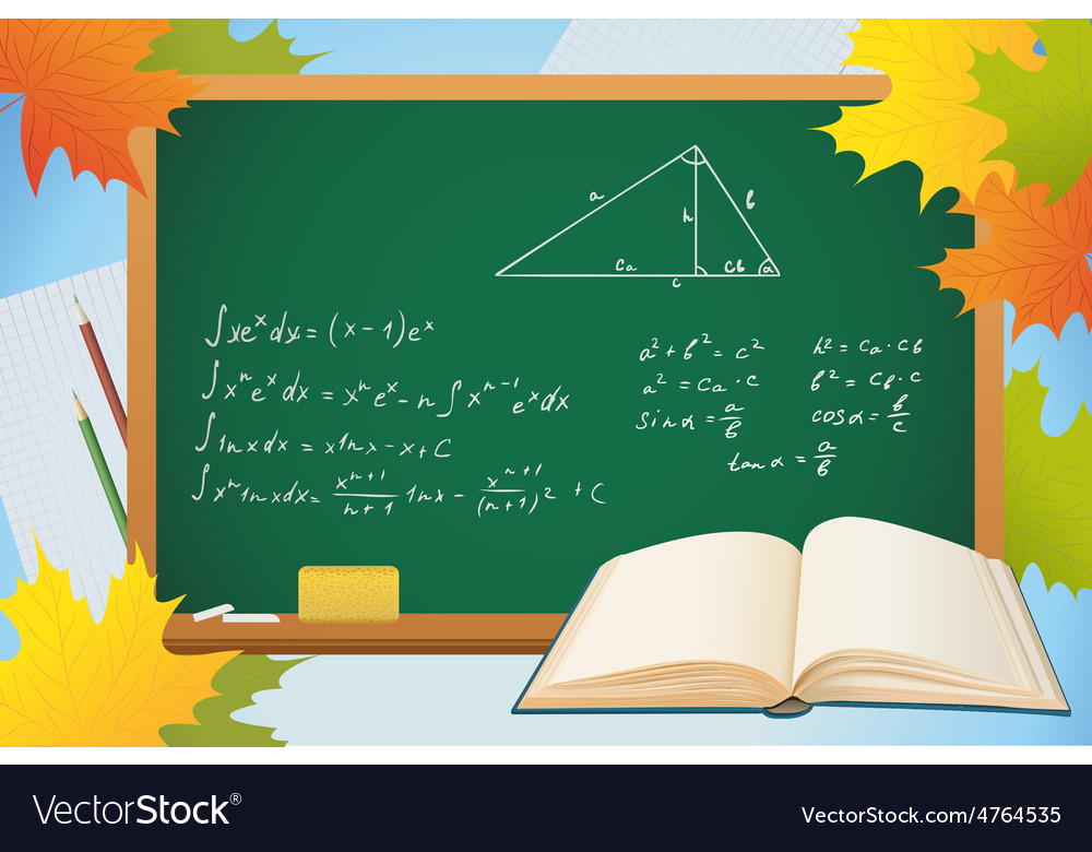 Math and geometry school autumn background with vector | Price: 3 Credit (USD $3)