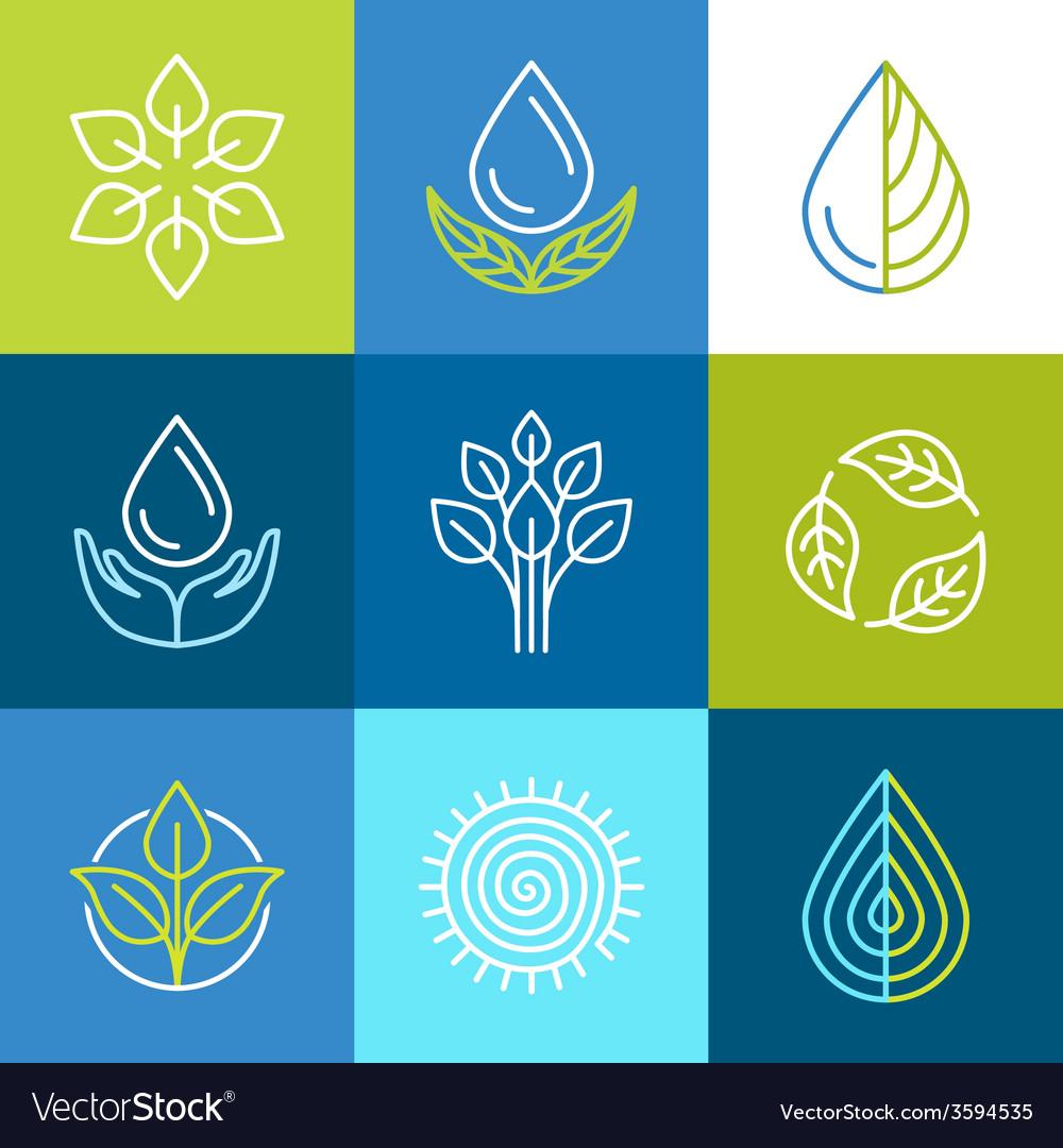 Organic logos vector | Price: 1 Credit (USD $1)