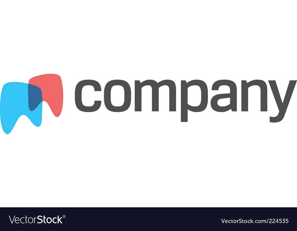 Teeth logo for dental company vector