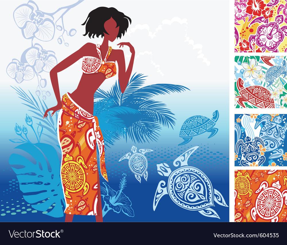 Turtles print beach clothing vector   Price: 3 Credit (USD $3)