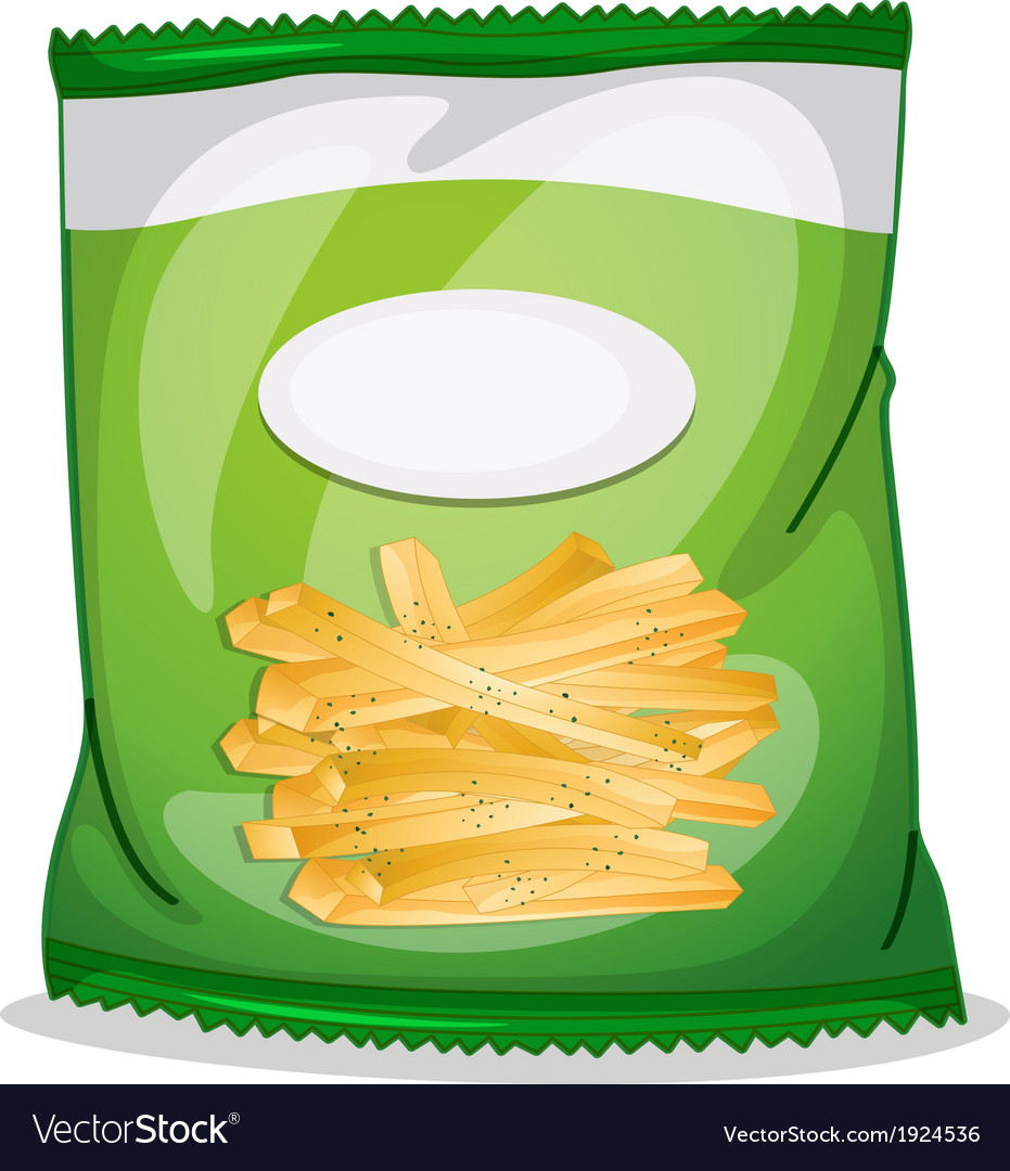 A pack of crispy french fries vector | Price: 3 Credit (USD $3)